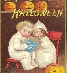 Ellen Clapsaddle Antique Halloween Postcard by TheOldBarnDoor