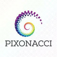 Pixonacci logo A simple and effective logo for an internet marketing business, stats and analytic or forecasting. This image is a good representation of systematic development and growth which means 'Success in due course of time'