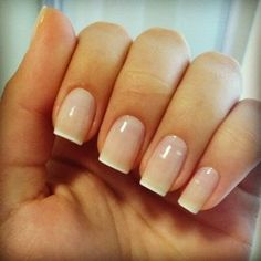 Neutral ombre nails.  Much better looking than the harsh tips on regular French Mani's.