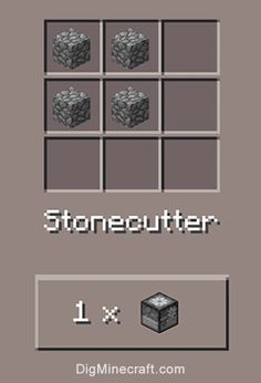 How to make a stonecutter in Minecraft PE (and more crafting recipes)