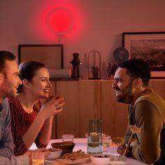 Philips Hue White & Color Ambiance Sana LED-Wandleuchte schwarz - Wandleuchten - Leuchten - LEDs.de Philips Hue, Led Stripes, Color, Indirect Lighting, Ceiling Medallions, Luminous Flux, Light Fixtures, Colour, Colors