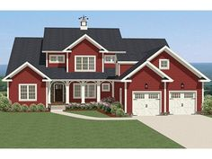 Farmhouse House Plan with 3185 Square Feet and 4 Bedrooms from Dream Home Source | House Plan Code DHSW077156