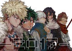 Boku no Hero Academia    Katsuki Bakugou, Midoriya Izuku, Todoroki Shouto, Aizawa Shouta, Kirishima Eijirou.