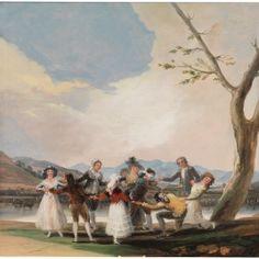 La gallina ciega - Colección - Museo Nacional del Prado Francisco Goya, Goya Paintings, Oil On Canvas, Canvas Prints, Marcel Proust, Spanish Artists, Romanticism, Printmaking, Dekoration