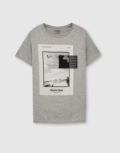 Grey printed T-shirt - T-shirts - Clothing - Man - PULL&BEAR Italy