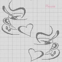 Cross Stitch Boarders, Butterfly Cross Stitch, Cross Stitch Pictures, Cross Stitch Heart, Beaded Cross Stitch, Cross Stitch Alphabet, Cross Stitch Designs, Cross Stitching, Cross Stitch Embroidery