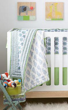 Love this crib bedding from my favorite, Rikshaw Design!