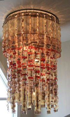 fused and slumped chandelier...not at all what I want BUT...I can take this idea and make it mine!!!