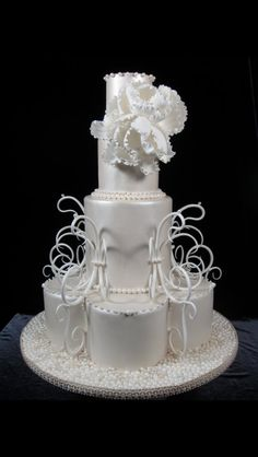 Another favorite of mine! I love all white cakes with lots of texture!