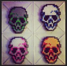 #perler. Skull hama beads.