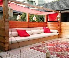 DIY pallet outside furniture                                                                                                                                                                                 More