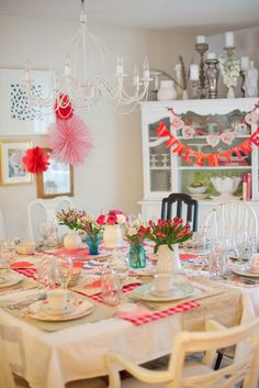 Domestic Fashionista - Rearranging furniture and raising littles. Valentines Day Food, Valentines Day Decorations, Rearranging Furniture, Homemaking, Raising, Party Time, Tea Party, Entertaining, Table Decorations