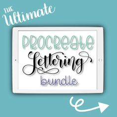 The Ultimate Procreate Lettering Bundle | Everything you need to begin your lettering practice in the Procreate app!