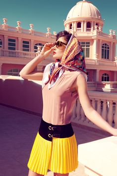 beautiful colours and backdrop . Headscarf