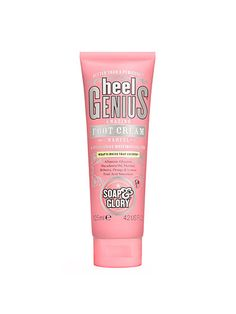 How to get gorgeous while you sleep: In addition to the usual moisturizers (glycerin, allantoin), Soap & Glory Heel Genius Amazing Foot Cream also contains urea, as well as orange and lemon fruit acids to help slough off dead skin cells