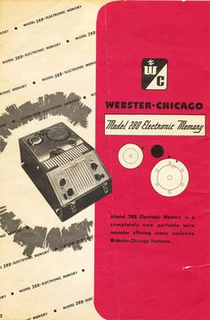 25 Best Wire recorder images | Chicago, Tape recorder, Hifi audio Vintage Vhs Recorder For Wiring Diagram on tape recorder, vinyl recorder, tascam reel to reel recorder, blue ray recorder, camera recorder, blu-ray recorder, dvr recorder, minidisc recorder, xbox recorder, tv recorder, cassette recorder, dat recorder, digital recorder, stereo recorder, pc recorder, betamax recorder, vcr recorder,