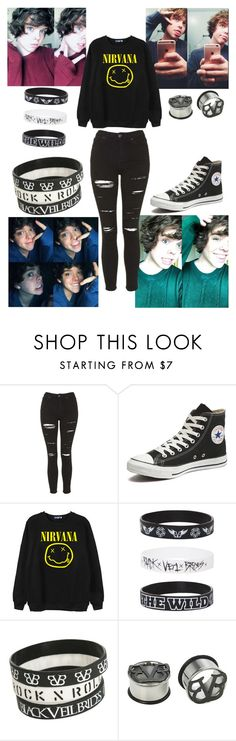 """""""Introducing Danny"""" by beth-hemmings-1998 ❤ liked on Polyvore featuring Topshop, Converse and Chicnova Fashion"""