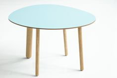 Morris coffee table model 1 in glossy lagoon blue
