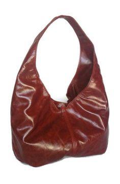 Genuine burgundy-brown leather hobo purse bag handbag handmade -alice