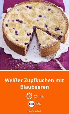 Weißer Zupfkuchen mit Blaubeeren - smarter - Kalorien: 324 kcal - Zeit: 20 Min.   eatsmarter.de #heidelbeeren #kuchen #backen Superfood, Eat Smarter, Muffin, Pie, Breakfast, Desserts, 20 Min, Cakes, Healthy Pie Recipes