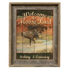 Moose Pond Barnwood Framed Print