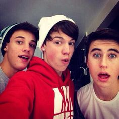 Cameron Dallas, Taylor Caniff, and Nash Grier