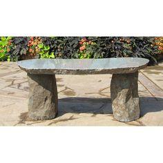Found it at Wayfair - Granite Boulder Garden Bench Boulder Garden, Outdoor Seating, Outdoor Decor, Stone Bench, Backyard, Patio, Stone Age, Bouldering, Granite