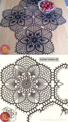 Crochet Doily Diagram, Crochet Doilies, Crochet Stitches, Knit Crochet, Crochet Patterns, Doily Art, Crochet Circles, Holiday Crochet, Crochet Pillow