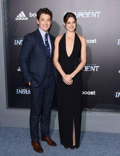 Pin for Later: Shailene Woodley Vole la Vedette Lors de L'avant Première New Yorkaise d'Insurgent Miles Teller et Shailene Woodley