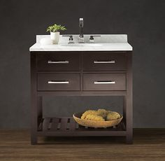 Restoration Hardware bathroom vanity (not looking to pay anywhere near this much though).