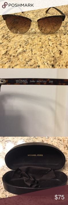 Michael Kors Griffin sunglasses Awesome pair of discontinued Michael Kors Griffin sunglasses    Turtoise shell   With case in perfect condition with eyeglass cloth for cleaning Michael Kors Accessories Sunglasses