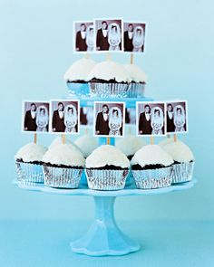 Love this idea as cupcake toppers.