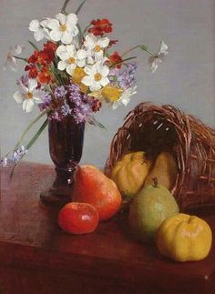 Henri Fantin-Latour  Fruit and Flowers  1866