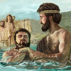 Repentant Jews come to John to be baptized