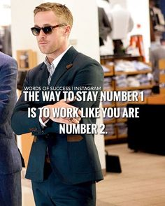 When you are at the top, to stay there, you can't rest, you have to work like there is someone working 24/7 to take everything you have. @mensfashionco