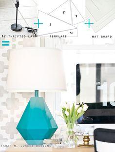 Robert Abbey Delta Lamp Knockoff   sarah m. dorsey designs