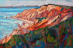 Cliffs in Color - Oil Painting by Erin Hanson