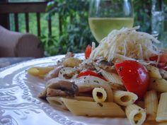 Chicken mushroom tomato pasta - easy