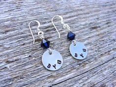 BYU Hand Stamped Metal Earrings by prettylicious on Etsy