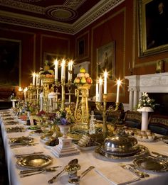 The dining room at Attingham Park.