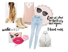 """""""Untitled #5"""" by guidalopes ❤ liked on Polyvore featuring Johnny Loves Rosie, Glamorous, Gianvito Rossi, Yves Saint Laurent, By Terry, Lime Crime, Rebecca Minkoff, casual, ootd and creative"""
