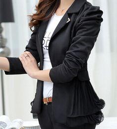 Blazer feminino 2015 rendas pequeno paletó de breve parágrafo um jaquetas Blazer mulheres profissional ocasional vestido casaco primavera em Blazers de Roupas e Acessórios Femininos no AliExpress.com | Alibaba Group