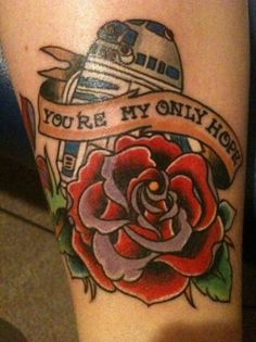R2D2 tattoo - even I am not that hard core of a fan.