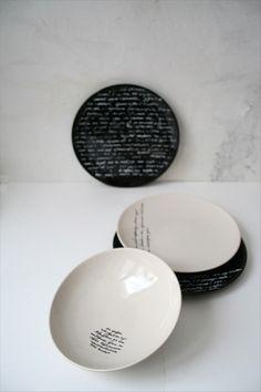 calligraphy tableware on Behance