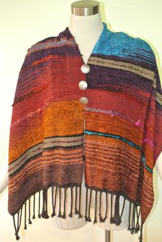 High Plains Ponchito by HandwovensbySherryK on Etsy