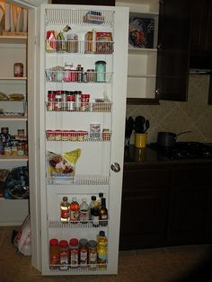 Ooh Another great pantry door idea, more stable than a shoe rack? pantry organization