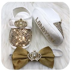 Baby Boy Crystals Shoes and Bow Bling Baby Shoes, Baby Bling, Baby Boy Shoes, Bow Shoes, Newborn Gifts, Baby Gifts, Baby Accessories, Fashion Accessories, Age Regression