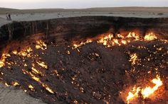 Cratera de fogo no Turcomenistão