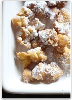 Italian Cenci cookies! This recipe is super similar to my grandma's Christmas cookies... they look the same but her's is slightly different. I must try these to see how they are!