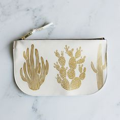 Cactus Clutch - Leather  - AmelieMancini